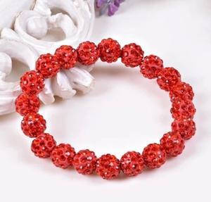 Shamballa armband röd