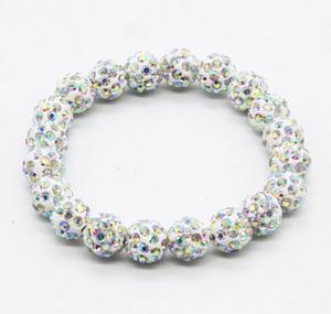 Shamballa armband AB silver