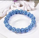 Shamballa armband ljusblå