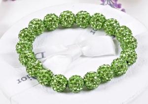 Shamballa armband Lime