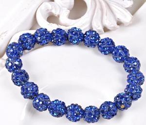 Shamballa armband blå SLUTSÅLD kommer inom kort.