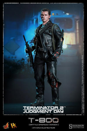 Terminator 2: T-800 Battle Damaged Version DX 13 Sixth Scale Figure