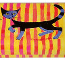 Glasögonfodral en katt