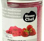 Rött socker med jordgubbssmak, 220 g, Sosa