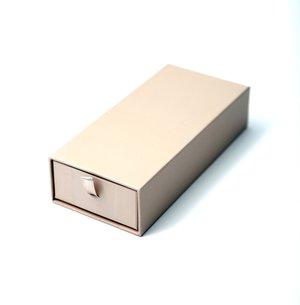 Pralinask med draglåda, inkl. insats för 10 bitar, beige.