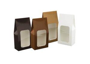 Fönsterask, stående, vit, 160x85x45 mm, 10 st