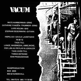 VACUM - EP  ( 6 tracks - black vinyl)