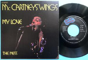 "PAUL McCARTNEY & WINGS (Beatles) My love 7"" French PS 1973"