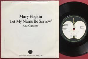 MARY HOPKIN - Let my name be sorrow UK PS 1971