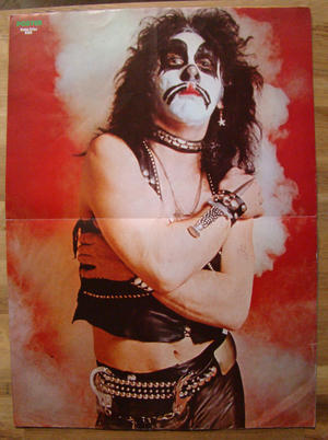 POSTER Mag - No 1 1976 - Kiss (Peter Criss), Queen etc
