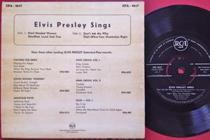 ELVIS PRESLEY - Sings Rare NORWAY EP 1958