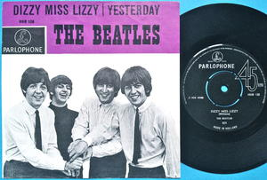 """BEATLES - Dizzy Miss Lizzy 7"""" Holland PS 1965"""