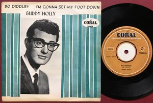 BUDDY HOLLY - I´m gonna set my foot down Swe Coral PS 1963