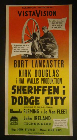 SHERIFFEN I DODGE CITY (BURT LANCASTER, KIRK DOUGLAS)