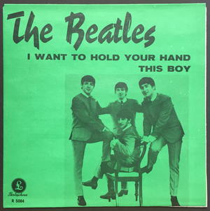 """BEATLES - I want to hold your hand 7"""" Swe-63 SUPERRARE GREEN / MINT(-)!"""