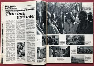 """BILDJOURNALEN - no 10 1967 with Red squares """"Elephant""""-POSTER"""