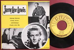 JERRY LEE LEWIS - Ubangi stomp +3 USA Sun EP 1958