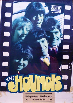 HOUNDS (1967) - Konsert/turneaffisch
