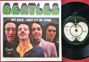 """BEATLES  - Get back 7"""" UK / Swe PS 1969"""