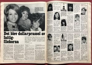 """BILDJOURNALEN - no 8 1968 with MONKEES """"Elephant""""-POSTER"""