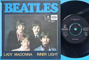 "BEATLES - Lady Madonna 7"" Swe PS 1968 M-!"