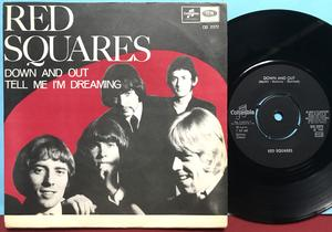 RED SQUARES - Down and out Swe PS 1968