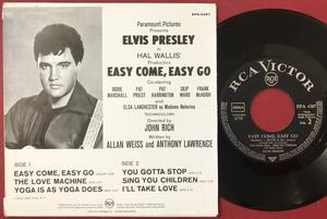 ELVIS PRESLEY - Easy come, easy go - Tysk EP 1967