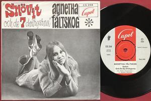 AGNETHA FÄLTSKOG - Snövit & de sju dvärgarna Swe PS 1968