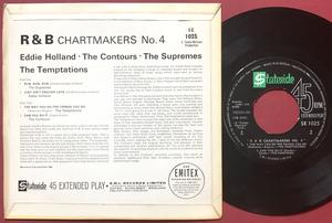 EDDIE HOLLAND CONTOURS SUPREMES TEMPTATIONS - R & B Chartmakers no 4 UK EP 1964