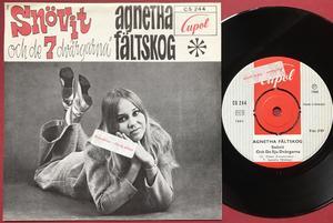 AGNETHA FÄLTSKOG - Snövit & de sju dvärgarna PROMO STICKER Swe PS 1968