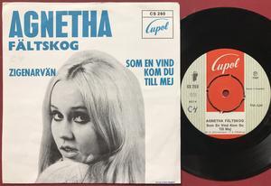 AGNETHA FÄLTSKOG - Zigenarvän Swe TURQUOISE PS 1969