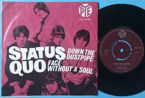 STATUS QUO - Down the dustpipe Norway PS 1970