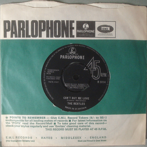 "BEATLES - Can´t buy me love 7"" UK 1964"