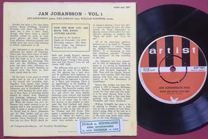JAN JOHANSSON TRIO - Vol 1 Swe EP 1964