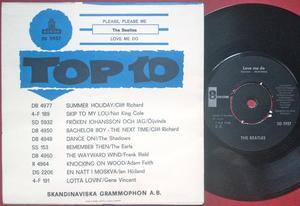"BEATLES -  Please, please me 7"" Swe PS 1963 MINT(-)!"
