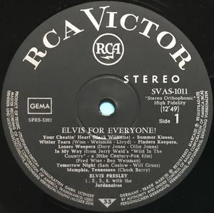 ELVIS PRESLEY - Elvis for everyone! Tysk-orig LP 1965