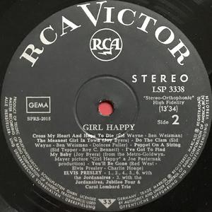 ELVIS PRESLEY - Girl happy German-orig LP 1965