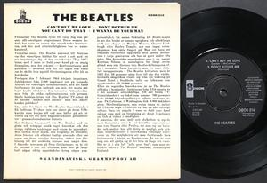 BEATLES - Can´t buy me love + 3 Swe EP 1964