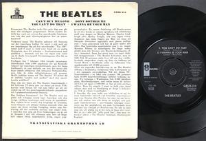 BEATLES - Can´t buy me love + 3 Swe EP 1964