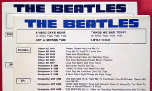 BEATLES - A hard days night + 3 Mörkblå Swe EP 1964