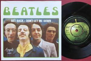 "BEATLES  - Get back 7"" MISPRINTED Swe PS 1969"