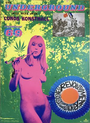UNDERGROUND - Lunds Konsthall Sture Johannesson 1968 originalaffisch