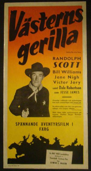 VÄSTERNS GERILLA (RANDOLPH SCOTT, BILL WILLIAMS,J ANE NIGH, VICTOR JORY)