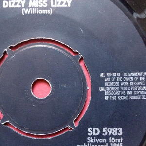 "BEATLES - Dizzy miss Lizzy 7"" English credits 1965 Swe PS 1965"
