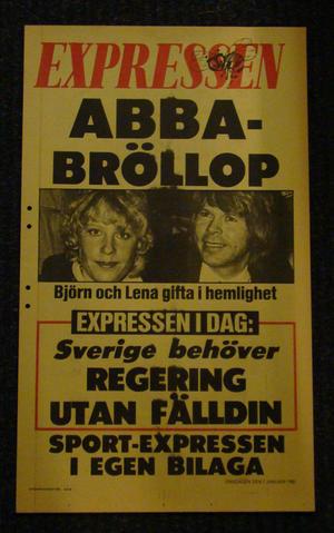 EXPRESSEN DAYBILL (ABBA WEDDING)