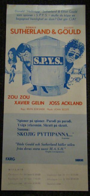 S.P.Y.S.  (DONALD SUTHERLAND,ELLIOT GOULD)