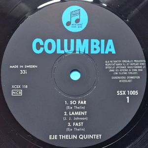 EJE THELIN QUINTET - So far Swe-orig LP 1963