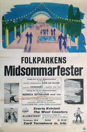 MONICA ZETTERLUND, STREAPLERS (1962-63) - Konsertaffisch