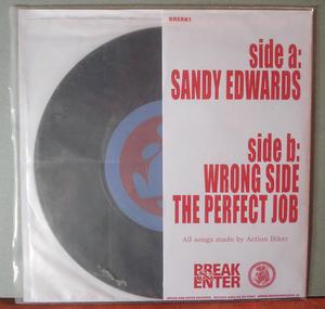 "ACTION BIKER - Sandy Edwards 7"""