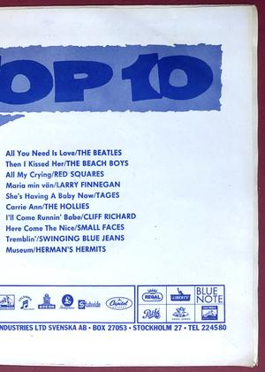 """BEATLES - All you need is love 7"""" MISPRINTED back 1967 Swe PS M-!"""
